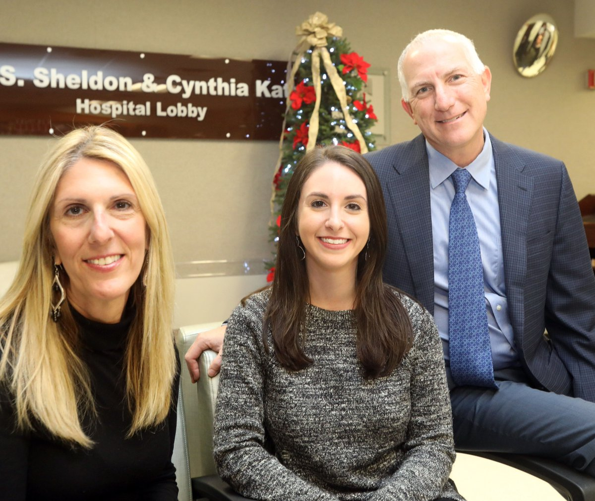 Diane Dinsmore, left, of Fishkill, New York; her daughter Kerri Dinsmore of Hastings-on-Hudson, New York; and Dr. Jeffrey Oppenheim of Piermont, New York, get together for a photo Dec. 12, 2018, at Nyack Hospita nearly 20 years after Oppenheim on Christmas Day 1998 performed seven hours of emergency brain surgery on a 7-year-old Kerri Dinsmore. (Photo: Carucha L. Meuse, The (Westchester County, N.Y.) Journal News)