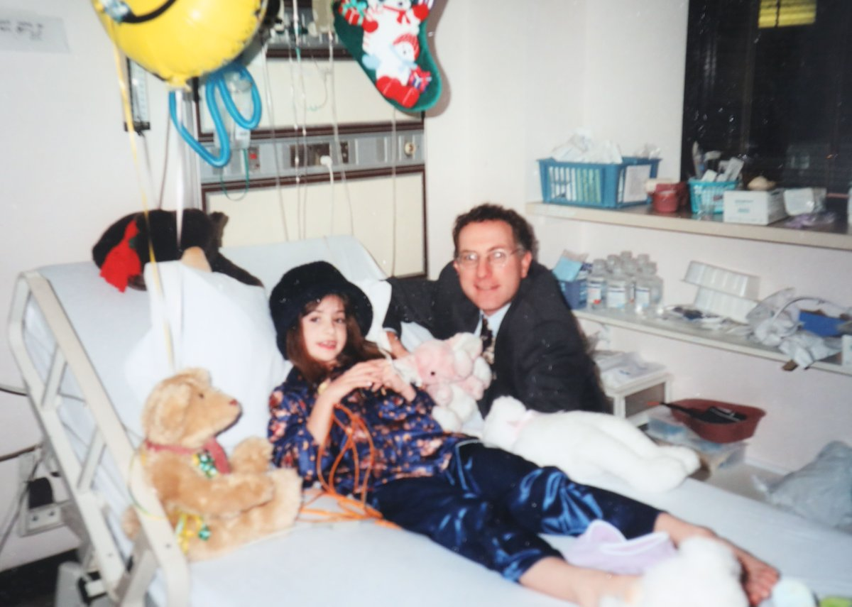 Kerry Dinsmore, then 7, was talking and laughing in her hospital room the day after Dr. Jeffrey Oppenheim performed emergency brain surgery on Christmas Day 1998 to staunch a brain hemorrhage. (Photo: Courtesy of Diane Dinsmore)