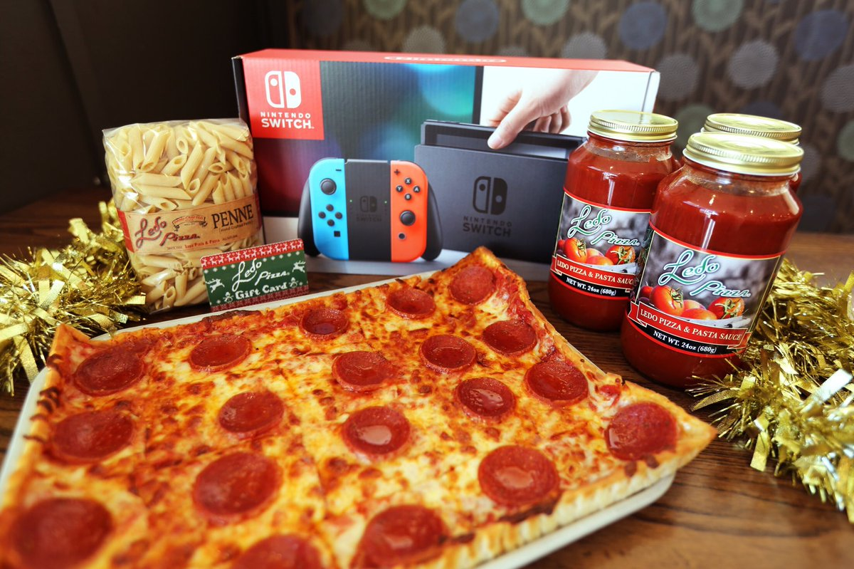 🎄HUGE #Christmas GIVEAWAY 🎄 WE ARE GIVING AWAY: - (1) Nintendo Switch System - (1) $100 #LedoPizza Gift Card - (3) Jars of Ledo Pizza Sauce - (1) Pack of Ledo Dry Pasta RETWEET AND FOLLOW TO BE ENTERED TO WIN!  (One lucky winner picked randomly at 9:59pm on 12/20/18.)