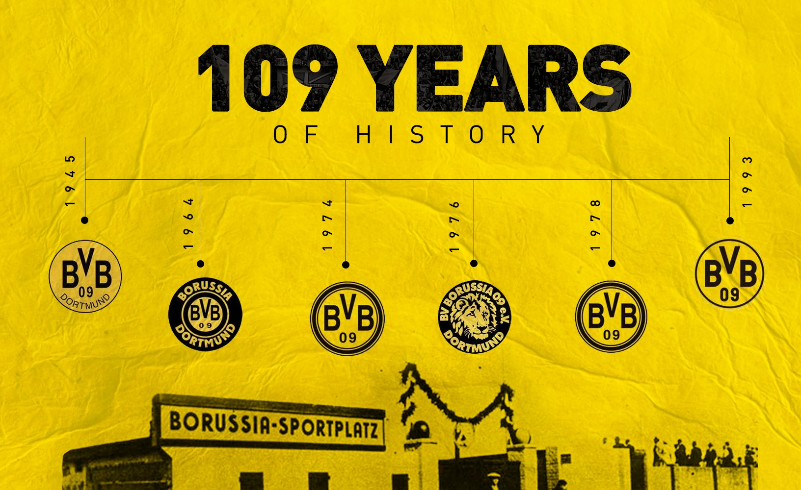 Borussia Dortmund On Twitter Our Logo Has Changed Over The Years But Our Passion Has Always Remained