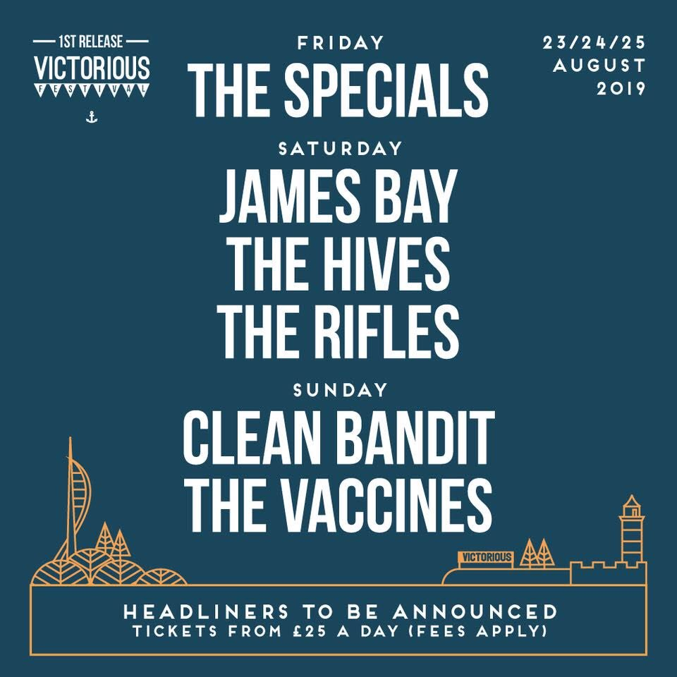 Saturday 24th August @VictoriousFest! https://JamesBay.lnk.to/VictoriousFest2019Tw …