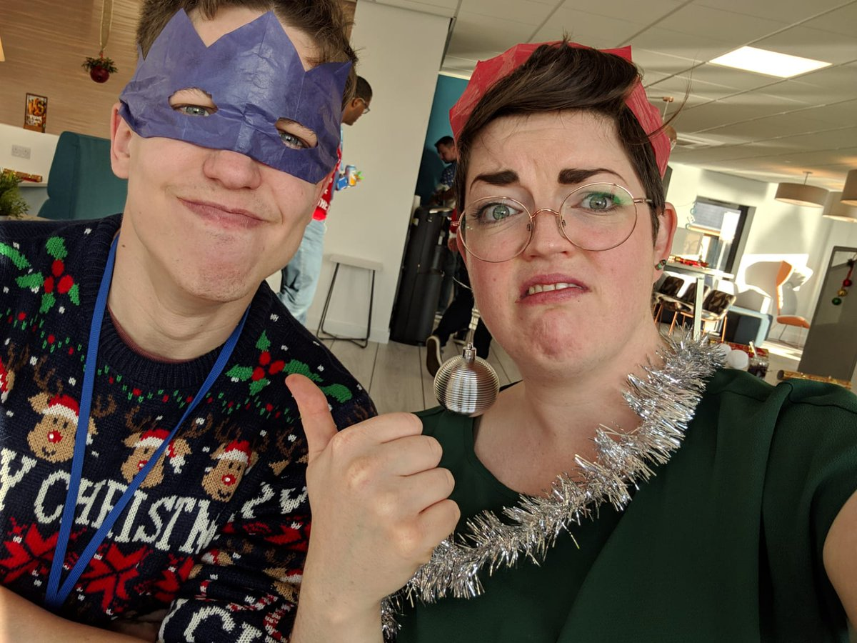 Decked out in our festive 'best' for our team Christmas lunch :)
