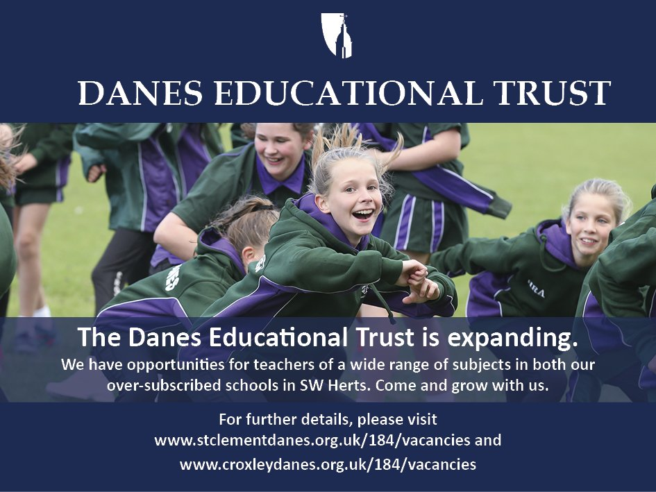 There are a number of opportunities for teachers of English, Maths, Science, Humanities, MFL and Girls' PE to join schools in our Trust next year. Come and grow with us! Details: https://t.co/b4RmzW3kl2 #teachingjobs #teachingvacancyuk https://t.co/XYoxl3kJ8S