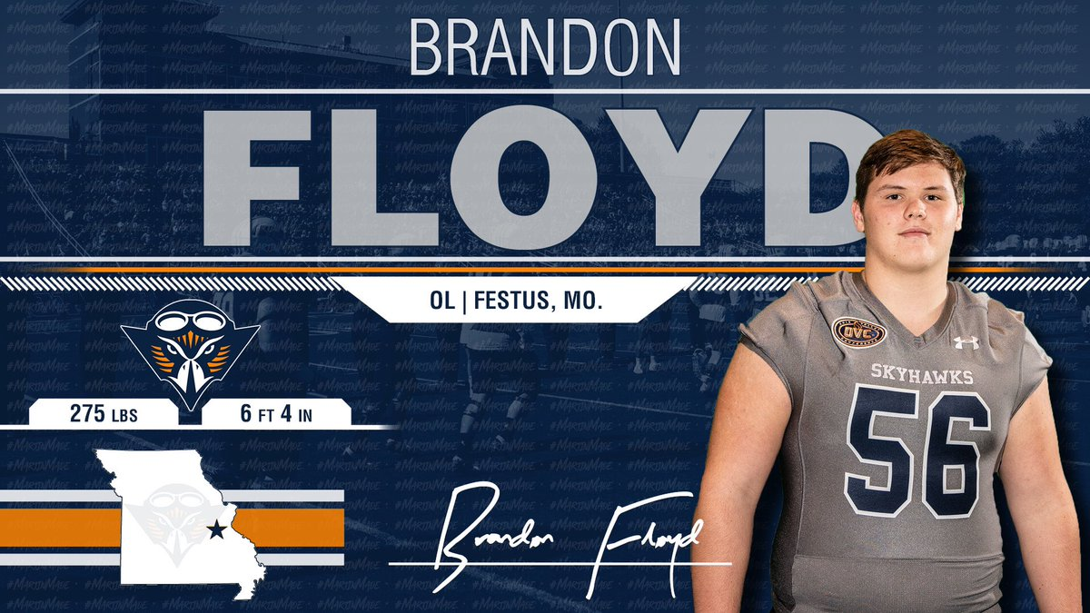 Big Pick Up From The ShowMe State!! @BrandonMFloyd Has The Goods at O-Line!!! He is a Skyhawk! 🔷🔶🏆🏈 #NSD19