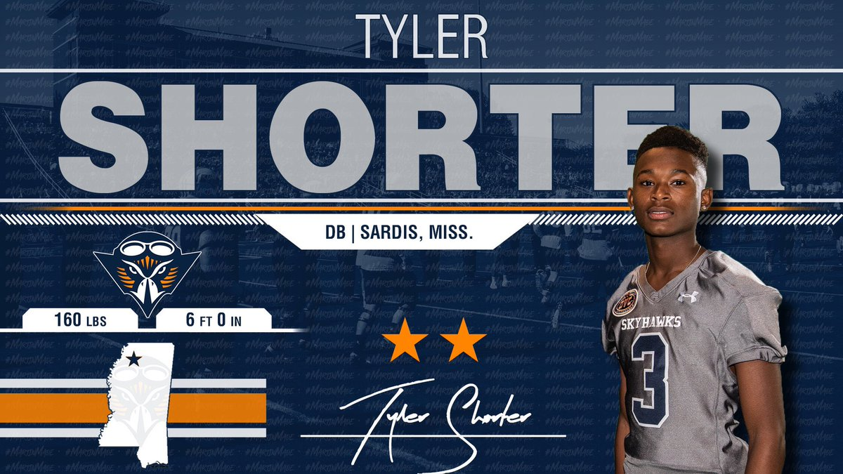 Another Mississippi DB! @Tylershorter3 is loaded with Potential - Dangerous Dude!!! He Is A Skyhawk!! 🔶🔷🏈🏆 #NSD19