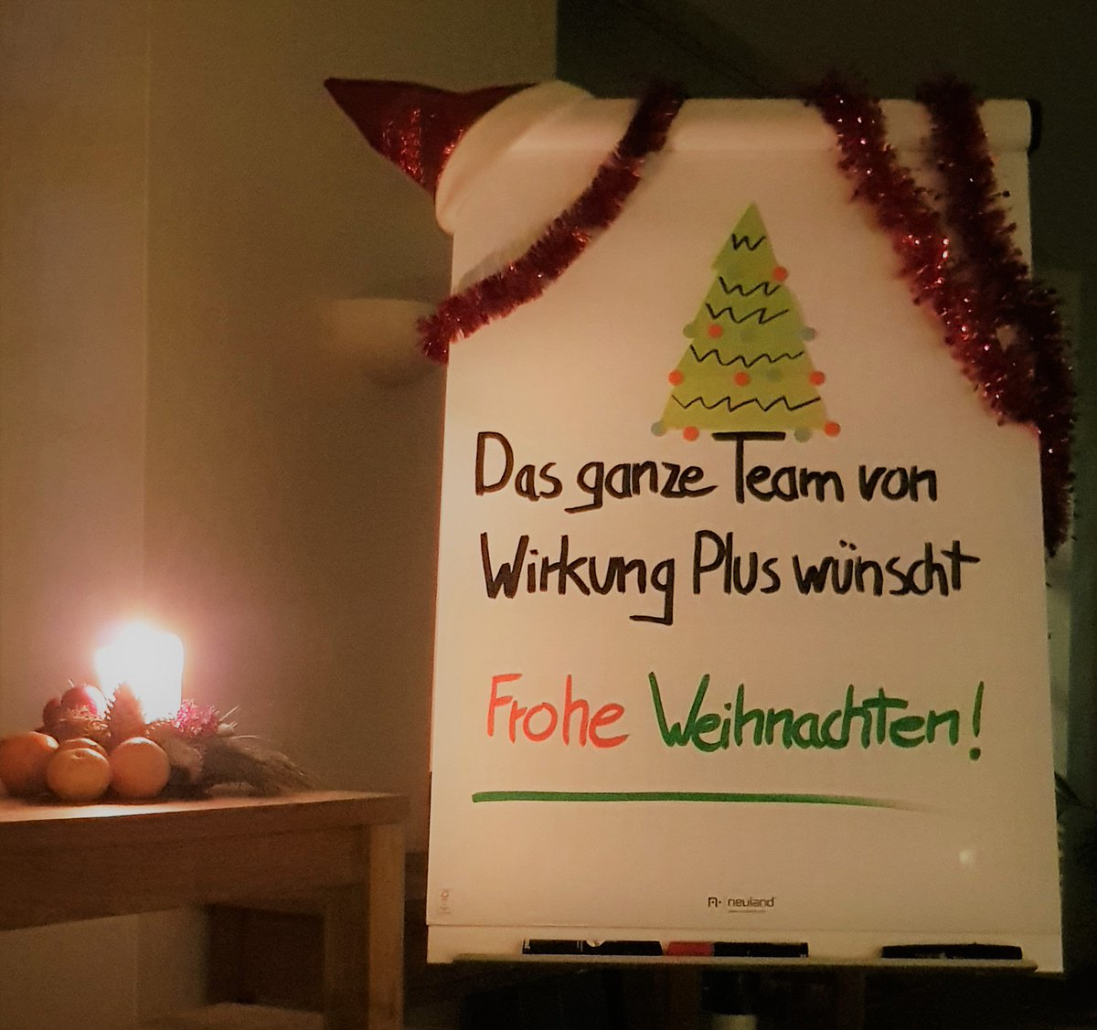Picture A Christmas Flipchart.Wirkung Plus On Twitter Even Our Most Cherished Colleague