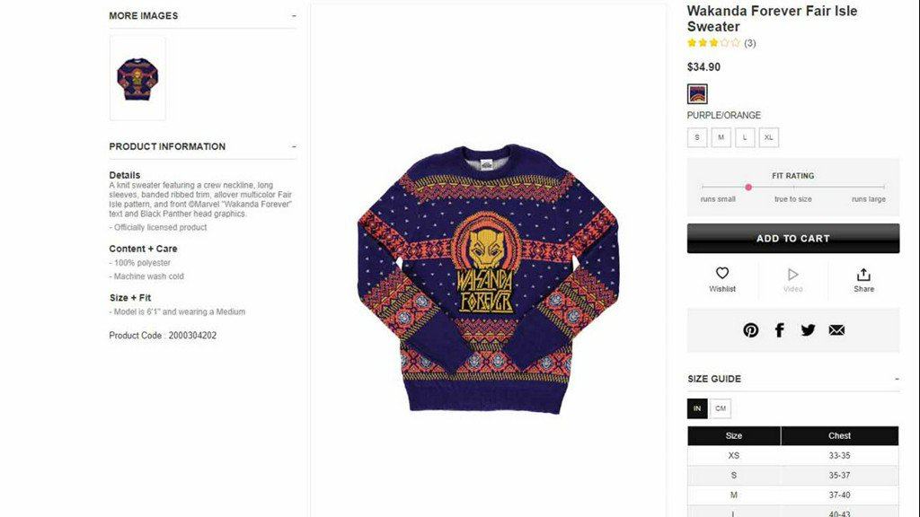 f12a83115ec Forever 21 deletes photos of white model in  Wakanda Forever  sweater after  backlash https