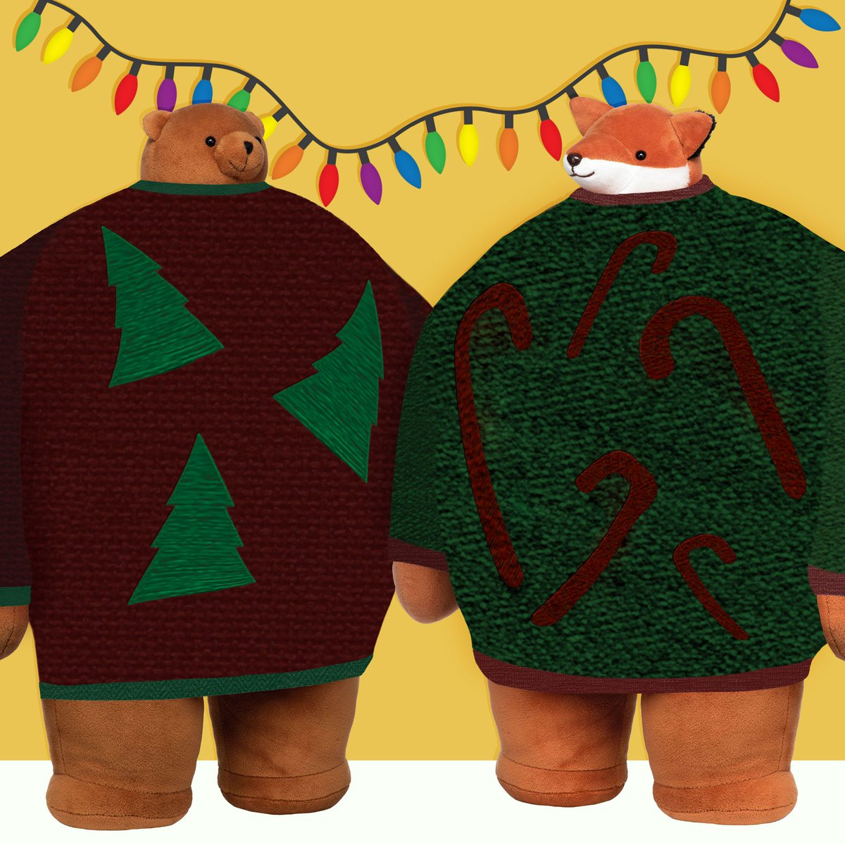 Apparently, wearing an ugly green and red colored sweater that a loved one gave you was part of this thing called holiday spirit. To Pip and Bagstock, holiday spirit felt a lot like love. #thkholiday