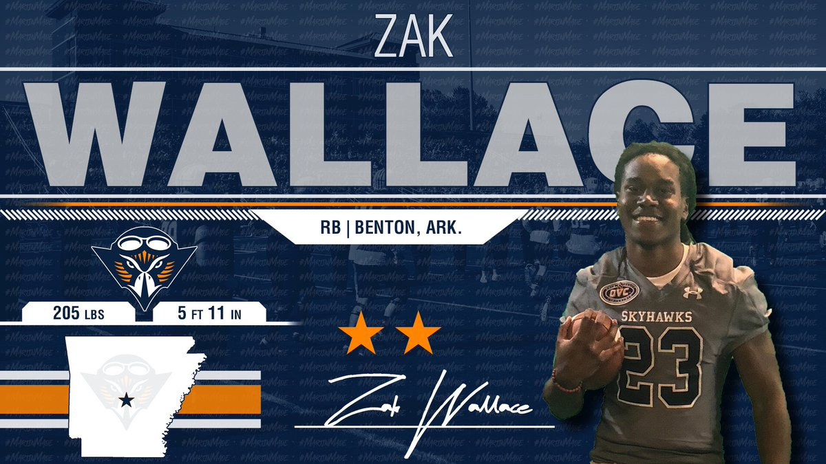 Huge RB Pick Up for The Skyhawks!!! @zak21wallace Is A Bowling Ball Of Butcher Knives🔪 & He Is A Skyhawk!!! 🔶🔷🏈🏆 #NSD19