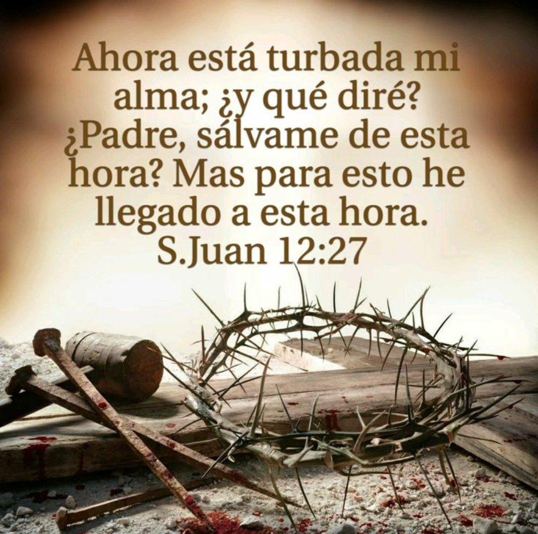Juan 12:28 Padre, glorifica tu nombre  Entonces vino una voz