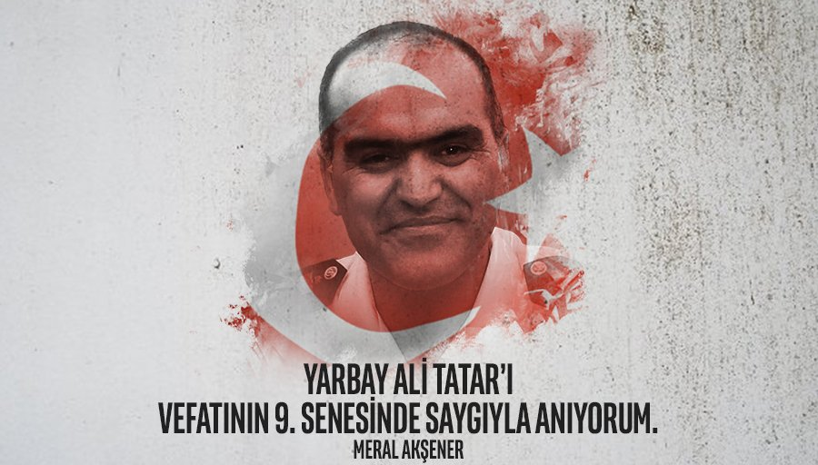 """""""Hukuksuzluğa isyan ve bu karanlığa bir nebze ışık olabilmek için...""""  - Yarbay Ali Tatar    Ordumuzun onurlu subayı Yarbay Ali Tatar'ı vefatının 9. senesinde saygıyla anıyorum. https://t.co/Pbu0n4aLAw"""