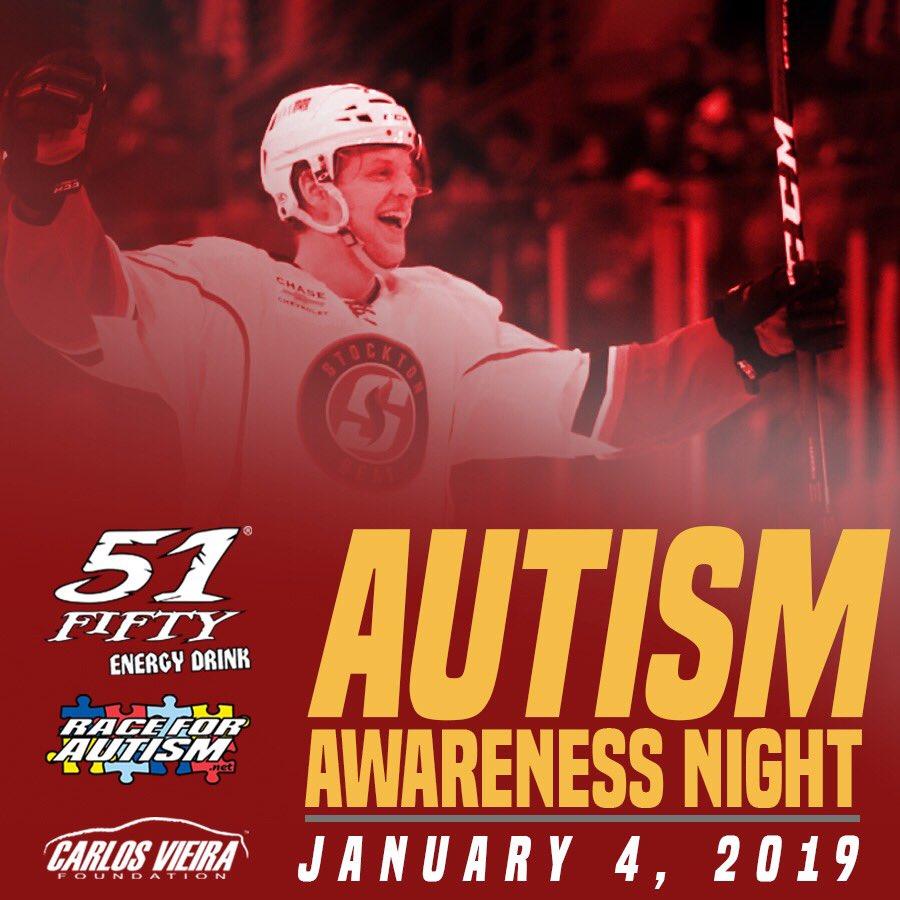 Autism Awareness Night with Stockton Heat