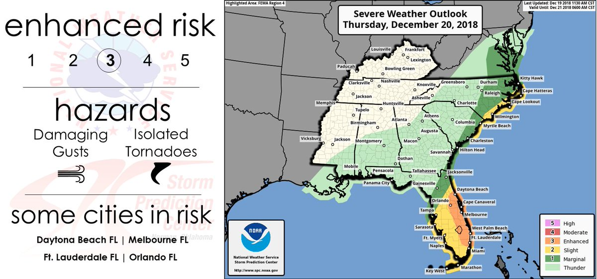 Map Of Eastern Florida.Nws Spc On Twitter The Forecast Remains On Track For Severe
