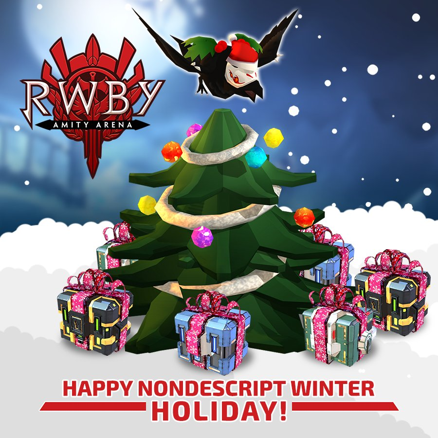 Rwby Christmas.Rwby Amity Arena On Twitter Happy Holidays And Merry