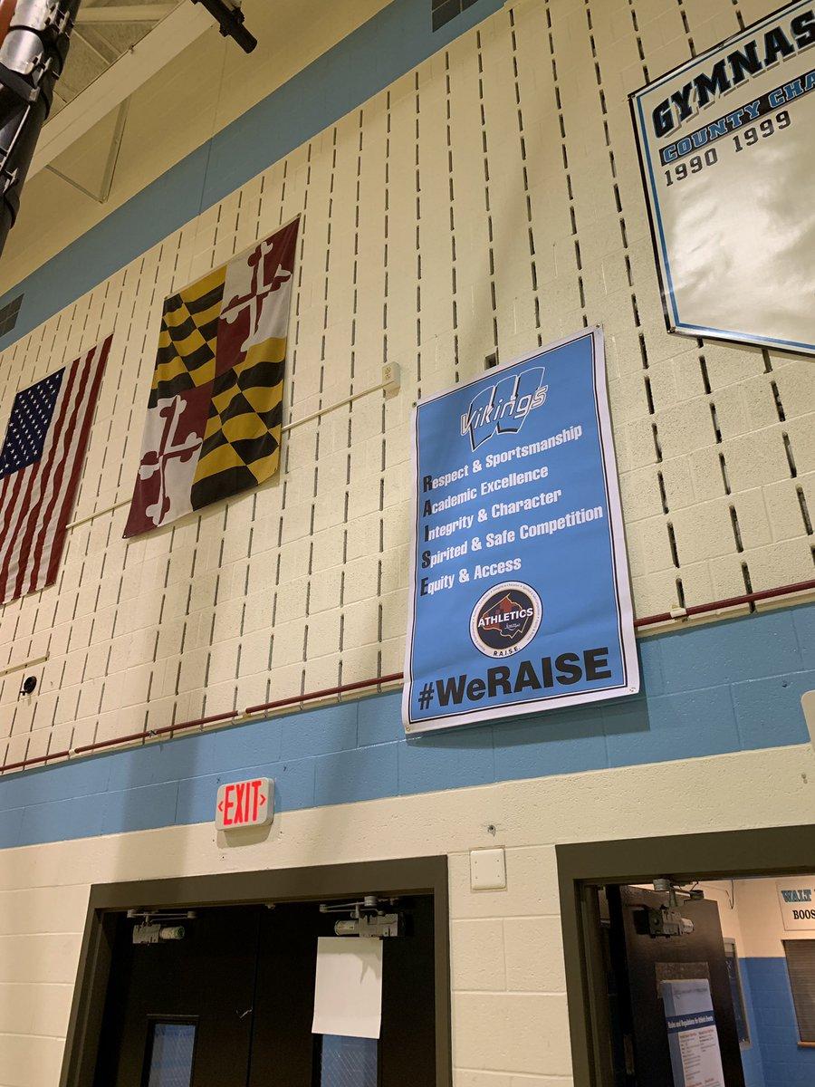 Weraise Banner Finally Hanging In The Main Gym Thanks Mcpsathletics Mcpsadpic Twitter Dttlmjsijb