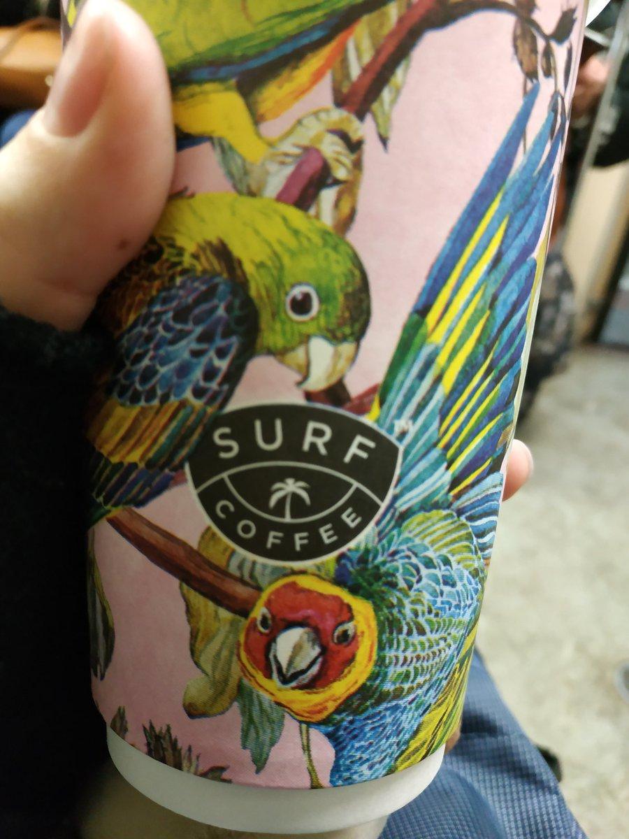 Гифка попугай кофе