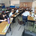 Image for the Tweet beginning: SJS Fifth-grade participating in an