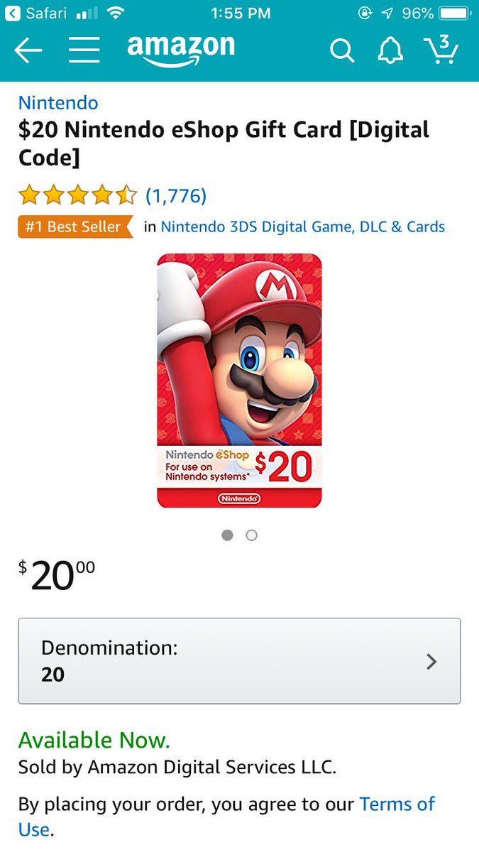 One person who follows me and RT's this tweet will win a $20 eShop gift card (winner will be chosen on 12/31). GOOD LUCK!