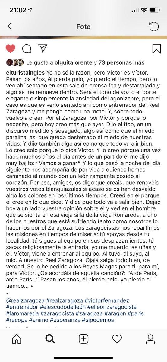 Sé que a Víctor le ha emocionado mucho leer esto. Lo ha escrito Fernando Ornat. Disfrutadlo porque es una maravilla