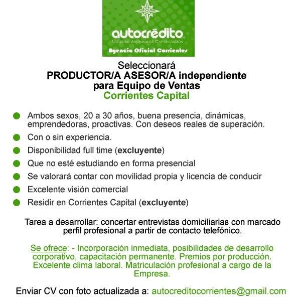 Trabajo En El Nea على تويتر Corrientes Autocredito S A Busca