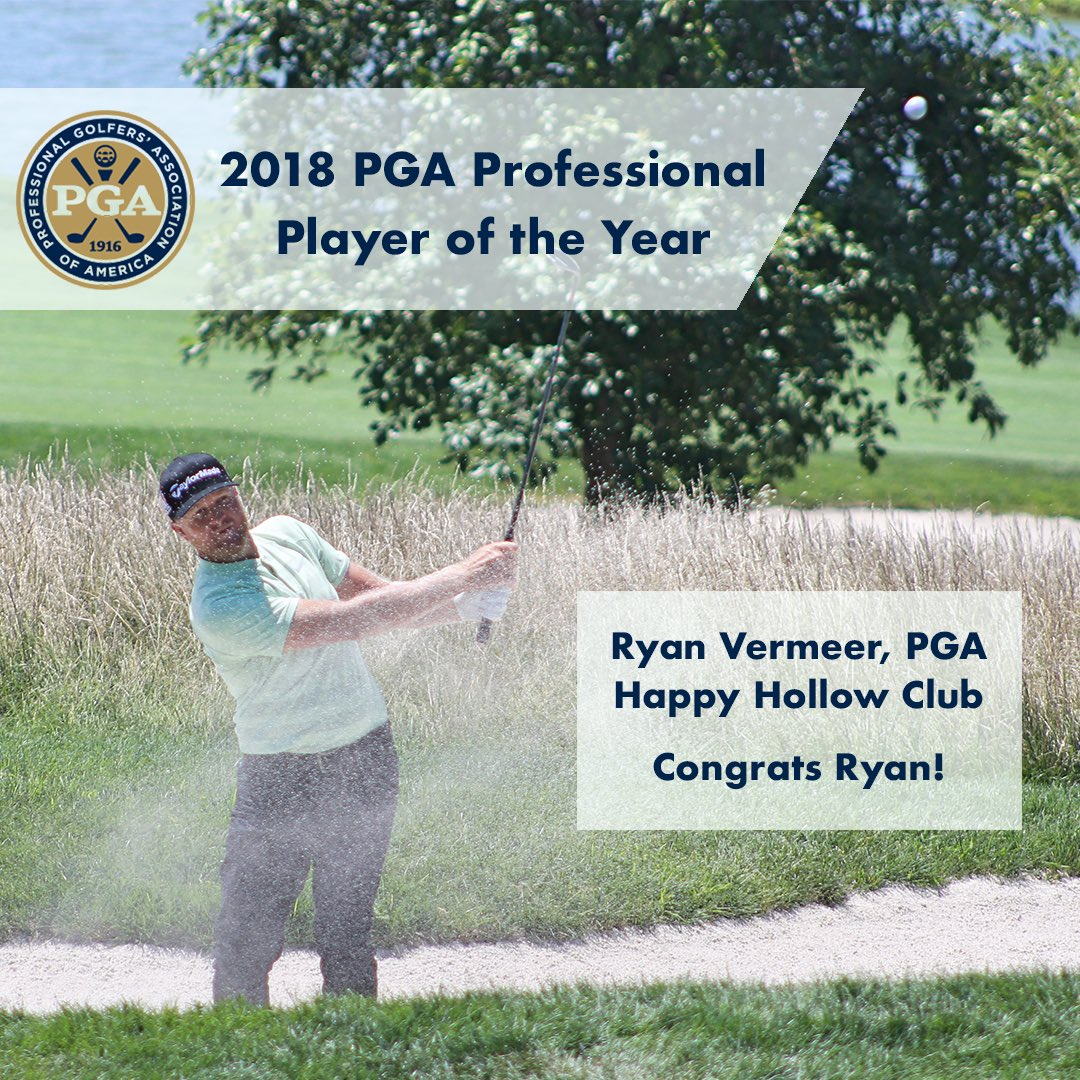2018 @pga Professional Champion  Played in his 2nd @pga Championship -    2018 @omegawatches Player of the Year -   Full story:  https://www. pga.com/news/pga/ryan- vermeer-bob-sowards-capture-2018-omega-pga-professional-senior-pga-professional-player &nbsp; …   @Golf_RV @HHCTheDen<br>http://pic.twitter.com/58nWbIXiyO