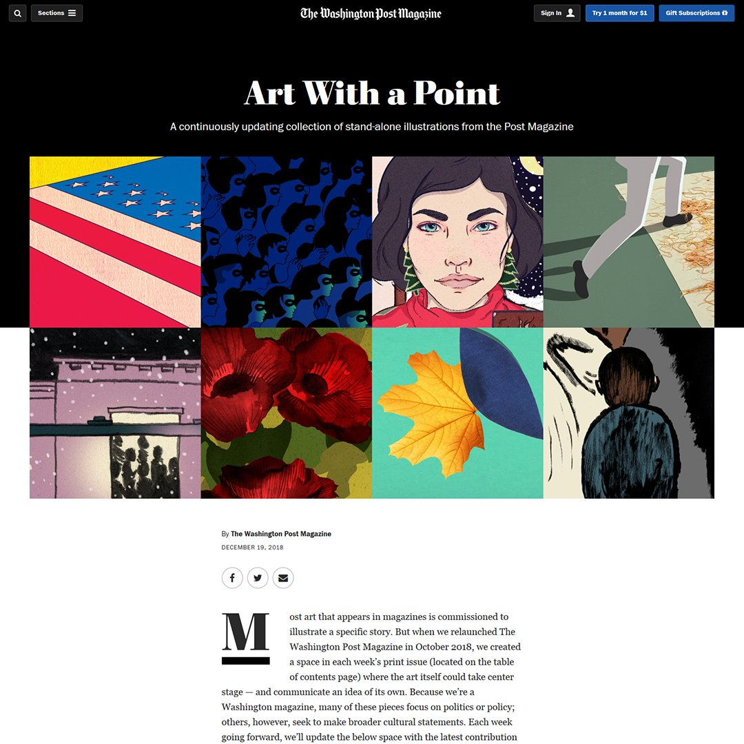 a continuously updating collection of stand alone illustrations from wpmagazine washingtonpost httpswapostmag art thank you michael johnson ad