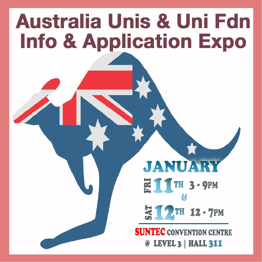 Thinking of Studying in Australia? Get Info from our senior counsellors at our Aus Uni, Uni Pathways & Hotel Sch Info & Application Day on Fri 11 Jan 3-9AM & Sat 12 Jan 12-7AM at Suntec Level 3 Hall 311. Call 61009800 or visit http://expo.OverseasEducation.sg for more info! #olevelresult pic.twitter.com/2WoYv3tnqH