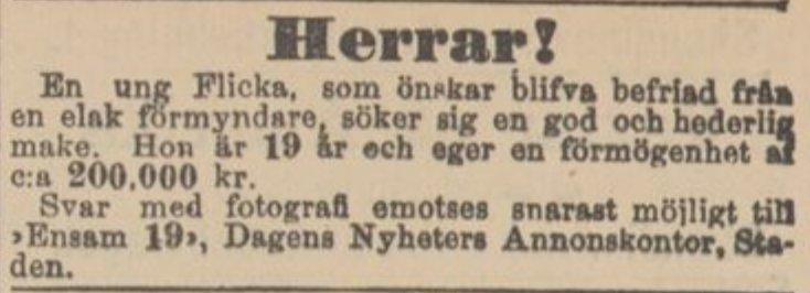 kontaktannons svenska köping