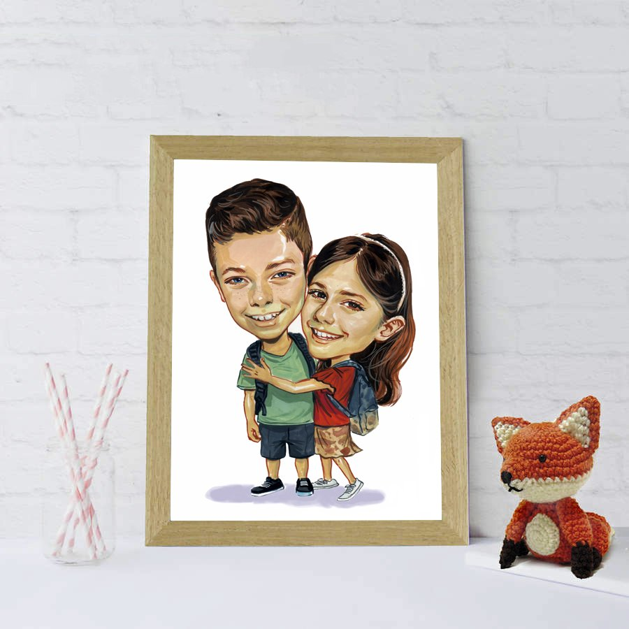 Best Way To Celebrate Your Sister Birthday By Giving A Wonderful Caricature Portrait In Unique