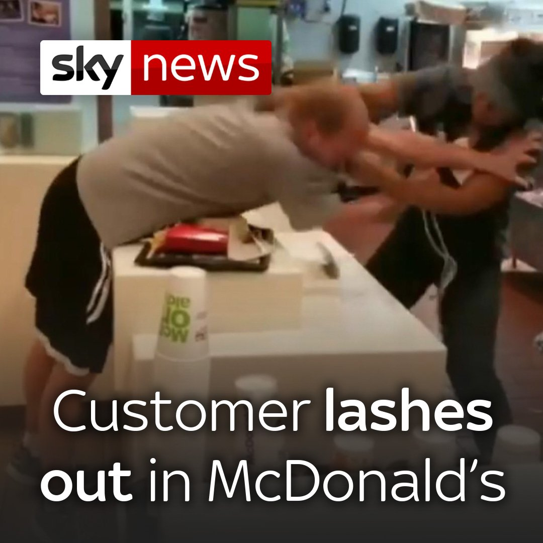 A customer at a McDonald's restaurant in Florida was arrested after he lashed out at a female employee in a dispute over a straw.  Watch more videos from the US: http://po.st/NMxBqG