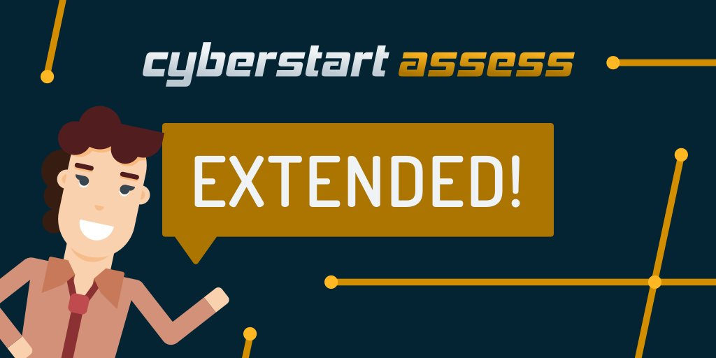 🚨 ALERT! 🚨  CYBERSTART ASSESS DEADLINE HAS BEEN EXTENDED! ⚠️  CyberStart Assess will now be open until the 31st of January!  If you need a bit more time or if you've only just found Cyber Discovery, now is your chance!   CyberStart Game will still open on the 15th of Jan! ✅