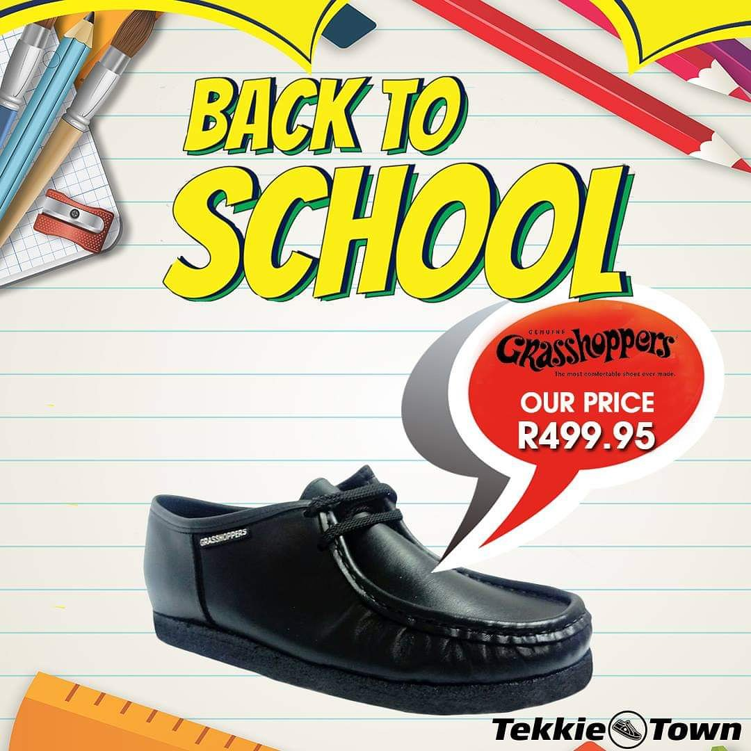 0aac9b4c667 The Grasshopper Softee is an essential for the new school season. Get it at  Tekkie