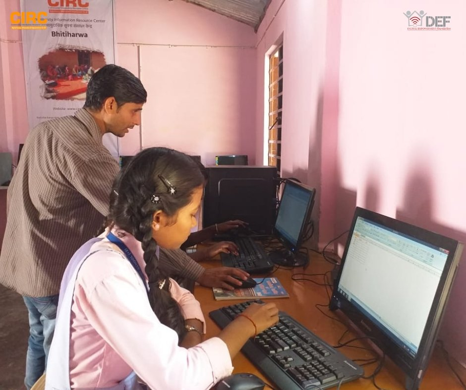 Bhitiharwa in West Champaran is one of the backward regions. A @CIRC_India is established there. We need to keep in mind, these students are the first-generation computer learners and have never even touched a computer, let alone working on it. @Oracle_India @CAFIndia_tweets