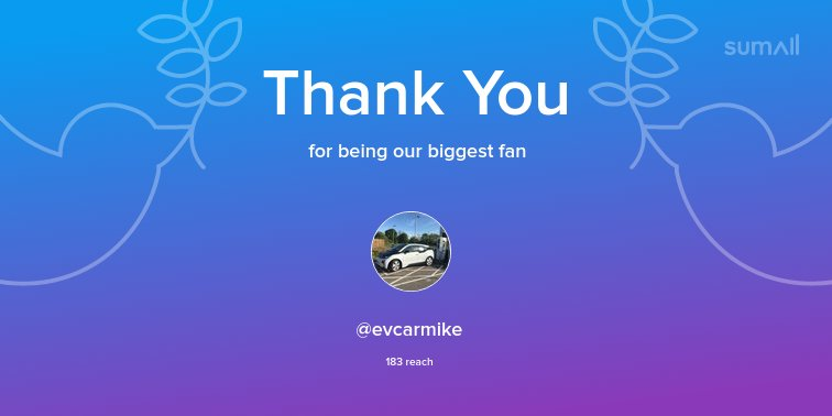 Our biggest fans this week: @evcarmike. Thank you! via https://sumall.com/thankyou?utm_source=twitter&utm_medium=publishing&utm_campaign=thank_you_tweet&utm_content=text_and_media&utm_term=abb18609aef46c14644aeba4…