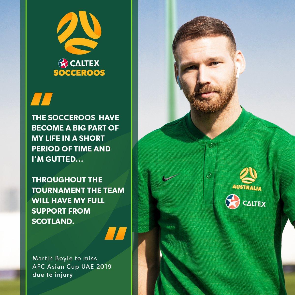 Australia name Giannou as Boyle's Asian Cup replacement