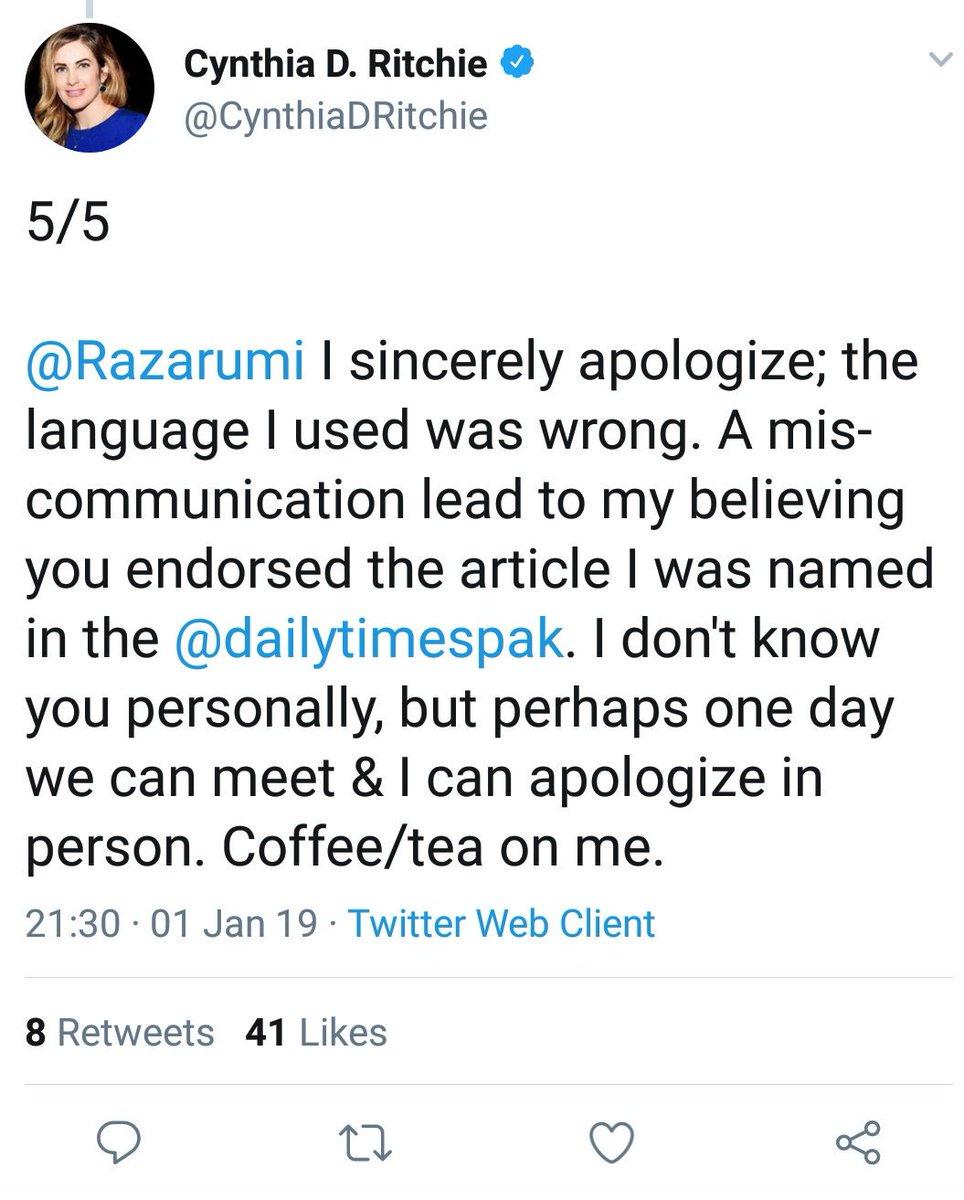 Raza Ahmad Rumi On Twitter Dear At Cynthiadritchie Thanks V