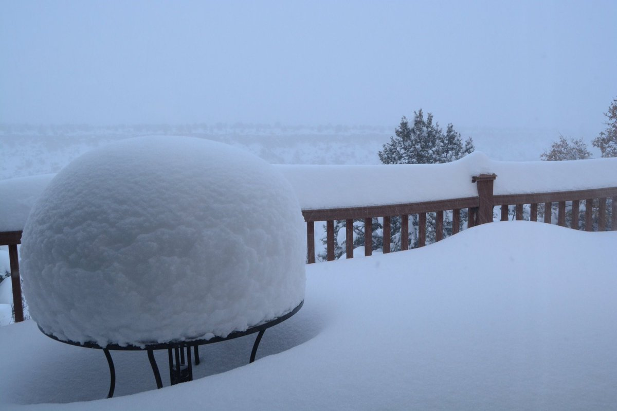 """Reports ranging from 12-20"""" in Los Alamos. Snow shovel, anyone? 📸: Bill Mead @KOB4 #nmwx"""
