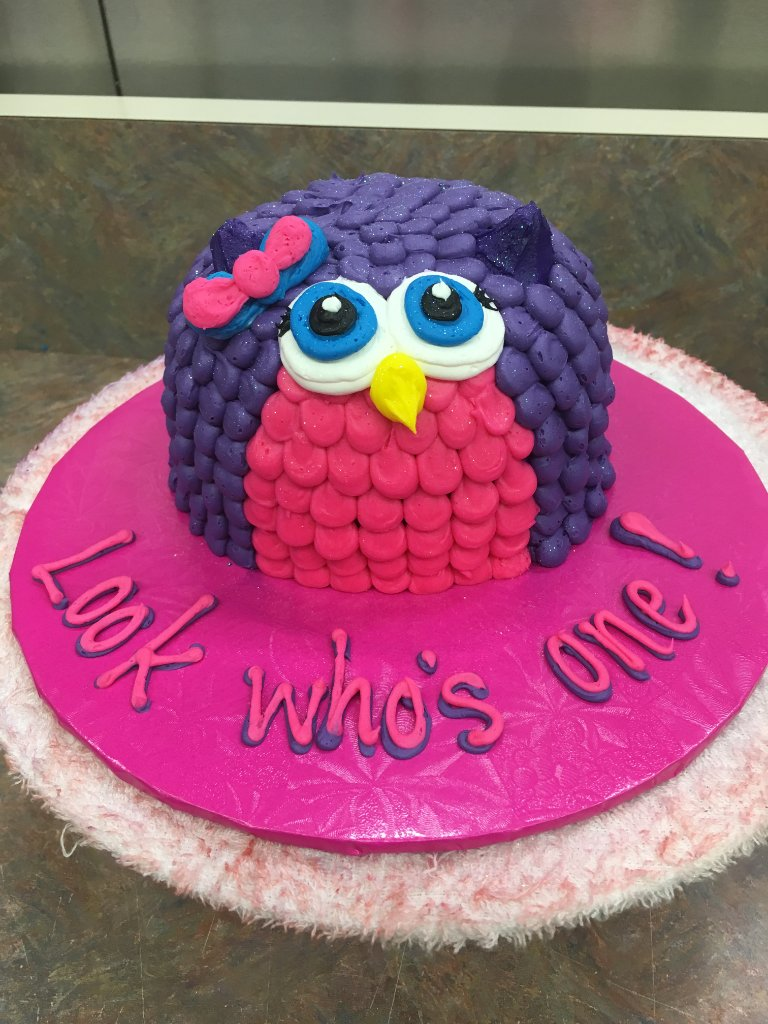 Our Shawnee Featured Cake Of The Day Happy New Year Who Or Should I Say Hoo Has A Years Baby Turning One Today Birthday