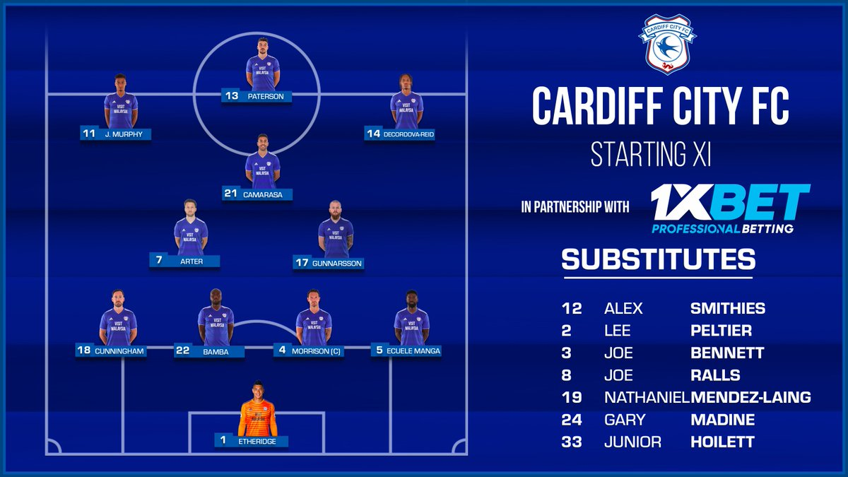 #CARTOT | #CardiffCity team news!  Brought to you by @1xbet_Eng...  #CityAsOne 🔵⚽️🔵⚽️