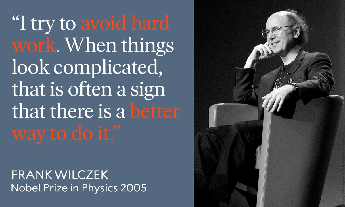 Some advice from Physics Laureate Frank Wilczek to kick off 2019!