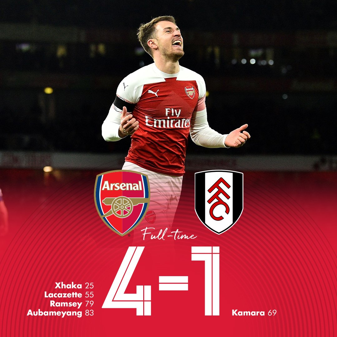 Arsenal yazinduka-Yaifunga Fulham 4-1