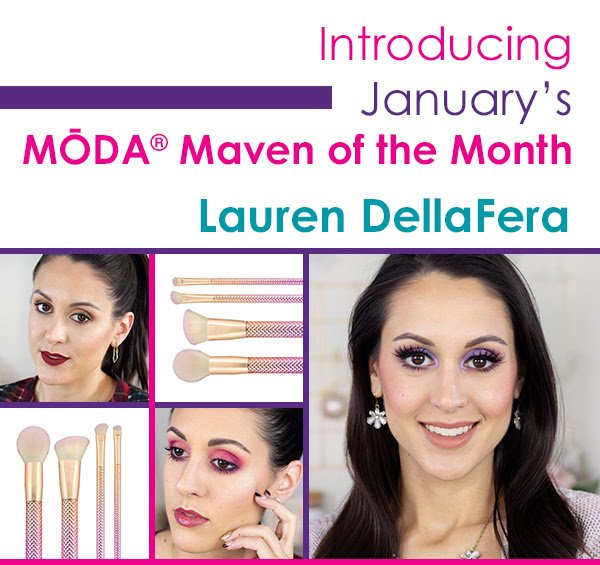 SO EXCITED to be @modabrush's first Maven of the Month for 2019! 💜 😁 If you want to see this Rosé Brush kit in action, check out today's makeup playtime video! #modamavens #modabrushes #vegan #crueltyfree #beautifullybold https://youtu.be/2L4a8wg7Xzs