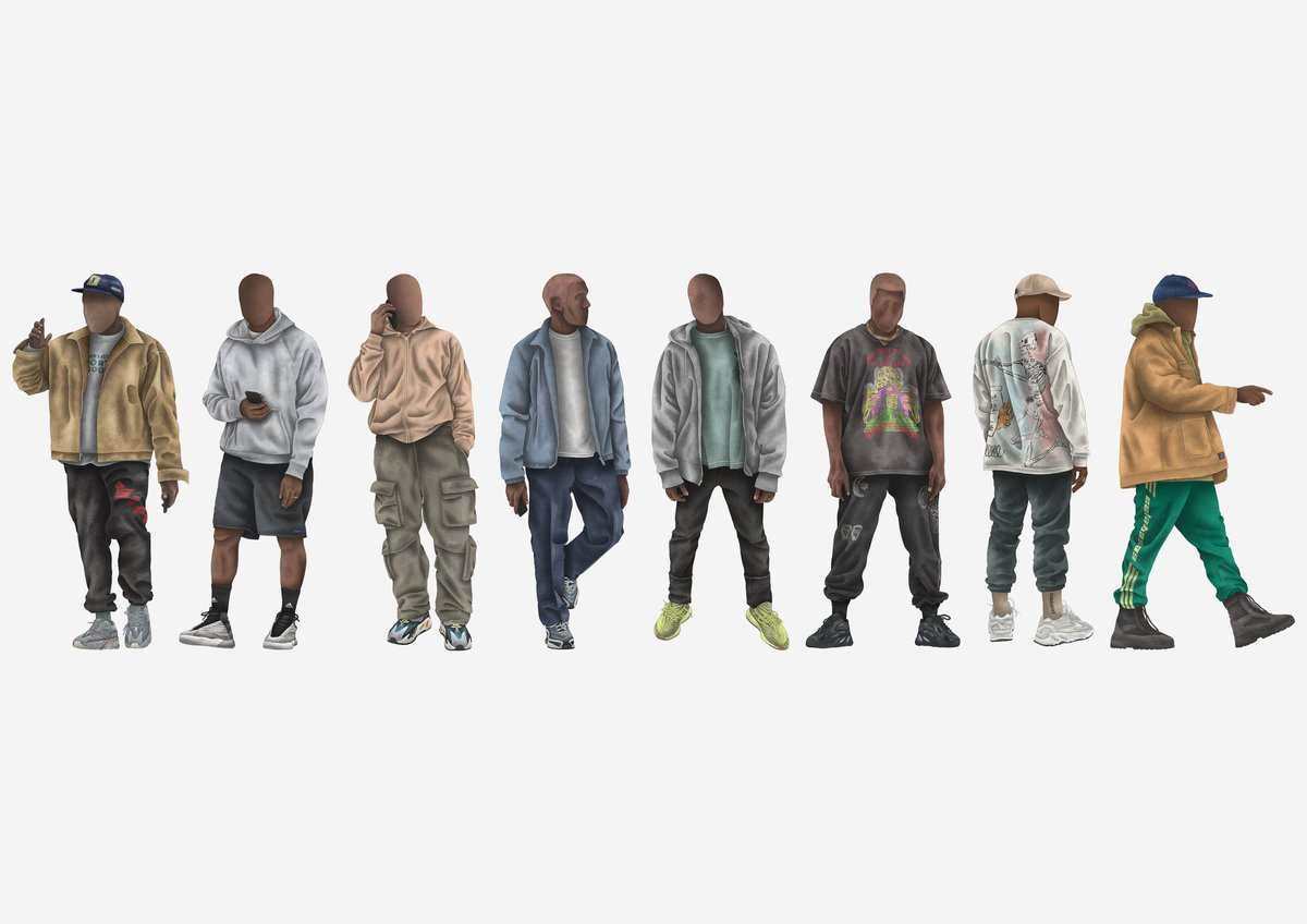 Rolling into 2019 with a line up of my favourite illustrations of @kanyewest /// Thank you for always being an inspiration in creativity and design.