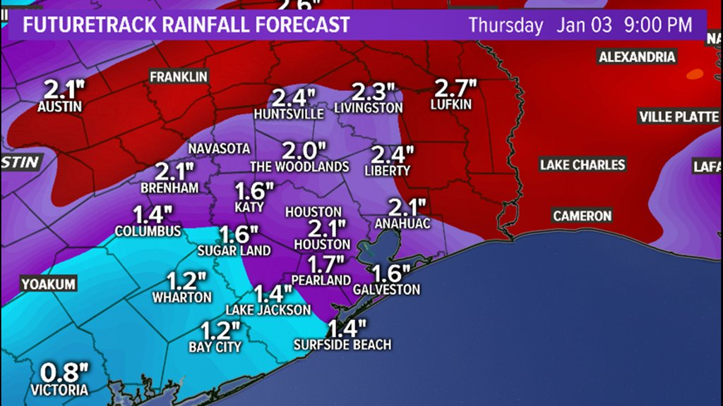 Khou Weather Map.Khou 11 News Houston On Twitter Houston Weather Heavy Rain Likely