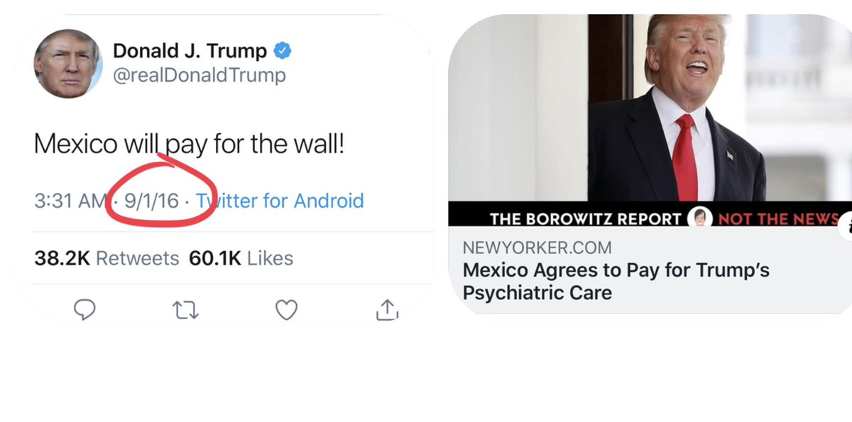 Oh Mexico... Always the life of the party!    #BorderBully #BorderWall #MexicoWillPay #BS #BackfireTrump #FBR #FBRparty<br>http://pic.twitter.com/WNV426BWSN