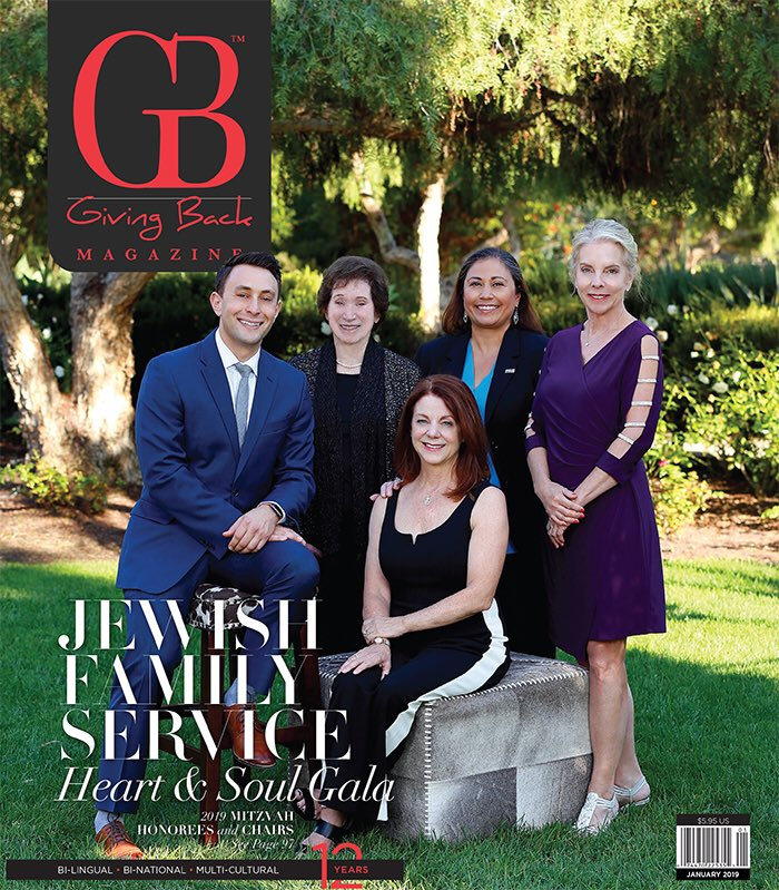 We Ring In The New Year With JFSSD Heart Soul Gala Mitzvah Honorees And Chairs On January Cover Make Sure To Pick Up A Copy Gbsan