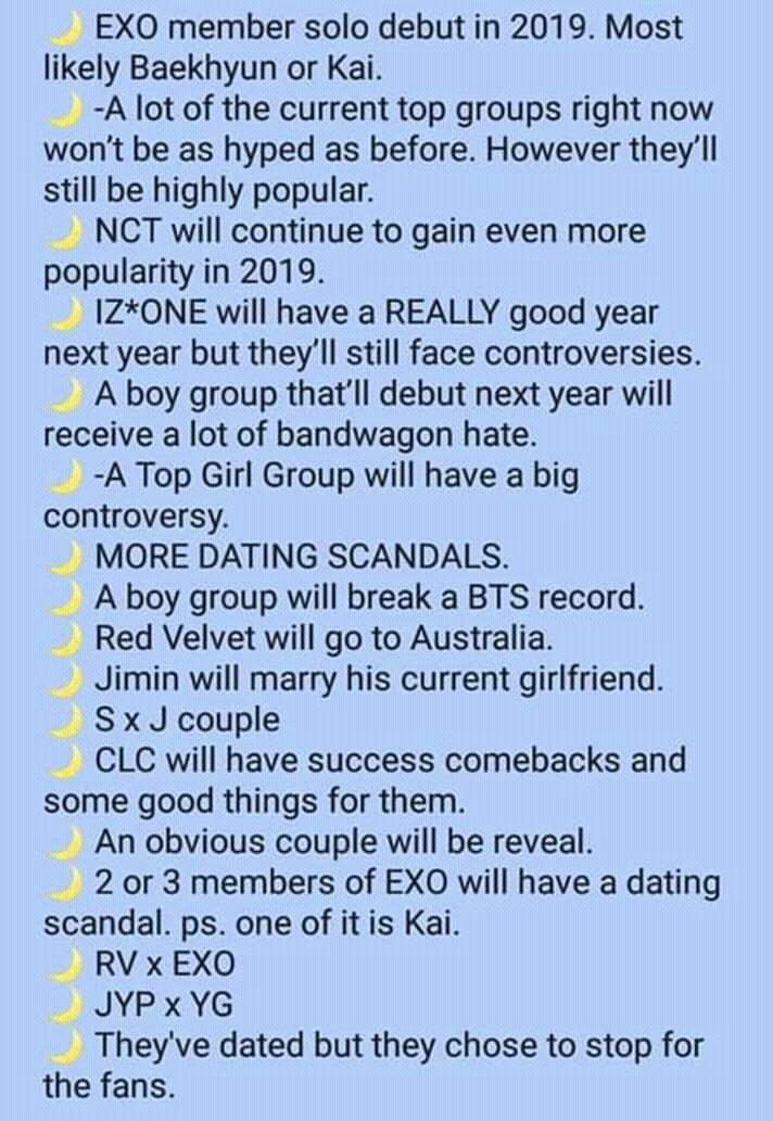 Kpop prediction on 2019     A boy group will break BTS