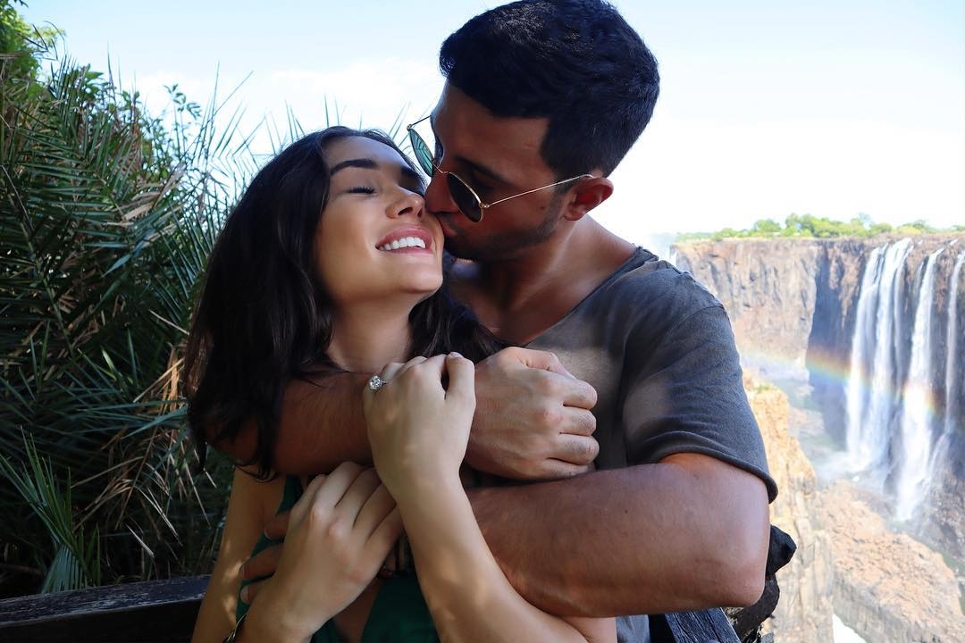 Amy Jackson Boyfriend gropes her, as they get hitched - Photo Proof Inside