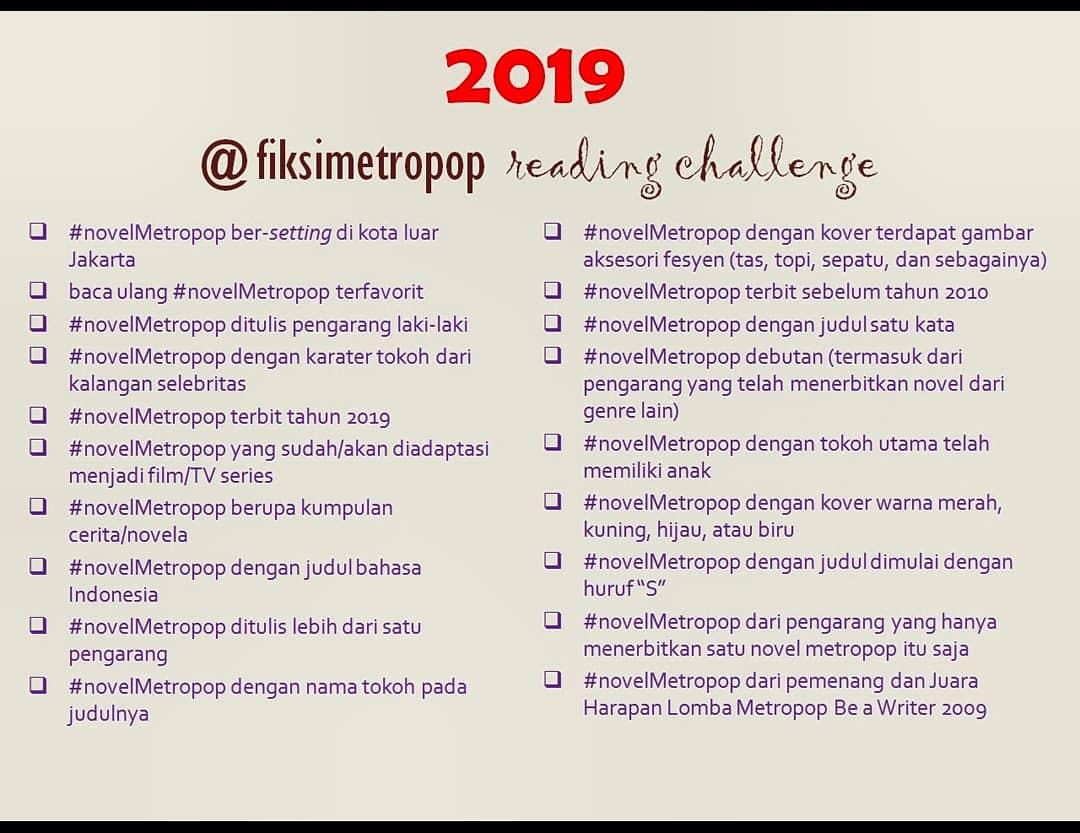 2019 fiksimetropop reading challenge