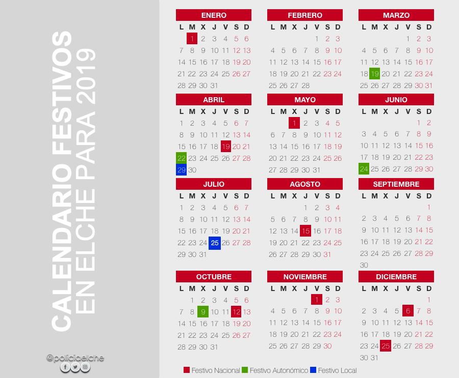 Calendario Laboral Elche.Policia Local Elche On Twitter Comenzamos El Ano Y Estrenamos